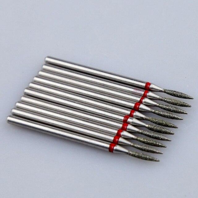 10pcs Diamond Nail Drill Bit Set Milling Cutters Nail Manicure Electric Cutter Bits Cuticle Polishing Tools Nail Accessories 5