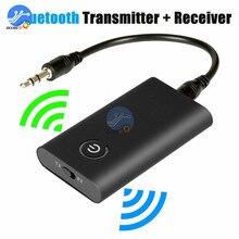 Bluetooth 5.0 משדר מקלט אלחוטי אודיו מתאם 2 ב 1 A2DP 3.5mm שקע Aux Bluetooth מתאם עבור PC טלוויזיה אוזניות רכב