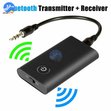 Bluetooth 5.0 Transmitter Receiver Wireless Audio Adapter 2 in 1 A2DP 3.5mm Jack Aux Bluetooth Adapter For PC TV Headphone Car