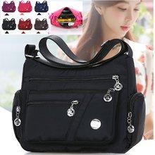 2020 moda kadın omuz askılı çanta su geçirmez naylon Oxford Crossbody çanta çanta büyük kapasiteli seyahat çantaları çanta cüzdan