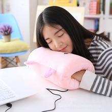 USB electric heating hand warmer cartoon hand warmer pad girl warm baby plush pillow warm hand pillow bedroom pillow doll doll