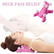 Cervical Spine Alignment Chiropractic Pillow Neck Head Pain Relief Back Massage Traction Device Support Relaxer