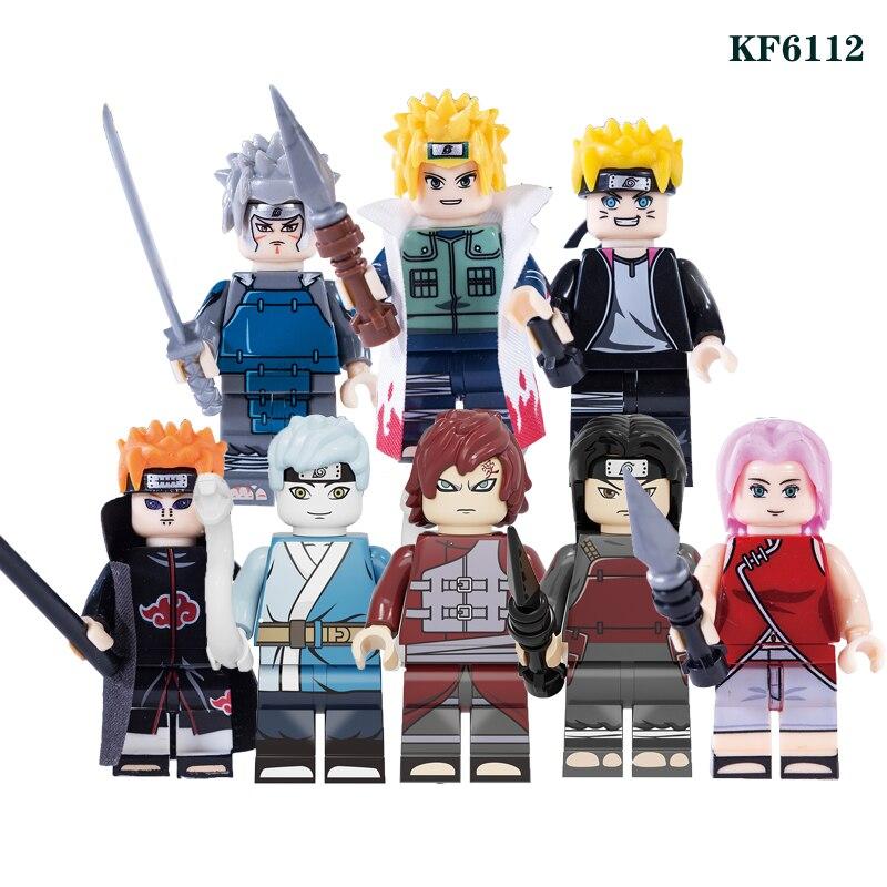 Naruto Building Blocks Uzumaki Boruto Mitsuki Gaara Namikaze Minato Senju Tobirama Pain Figures For Children Model Toys KF6112