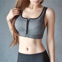 Women Sports Bra Mesh Seamless Fitness Tops Padded Cut Out Fitness Bra Ombre Gray Sexy Sportwear Running Gym Shirts Ladies