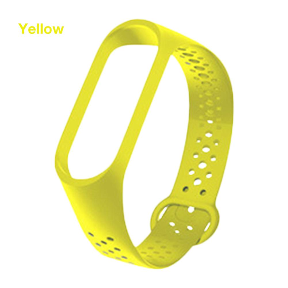 Yayuu TPU Solid Color Strap For Xiaomi Mi Band 3 4 Bracelet Replacement Wrist Strap Sport Breathable Smart Watch Band Accessiers