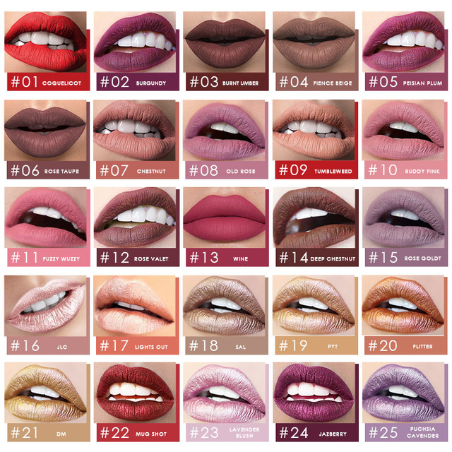 FOCALLURE Waterproof Liquid Lipstick Velvet Lip Tint Sexy Red Lip Makeup Keep 24 Hours Matte Lipstick 2