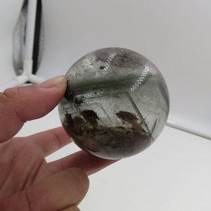 Редкий! 328 г 62 мм 100% натуральный зеленый Phantom кварцевый шар Сфера +