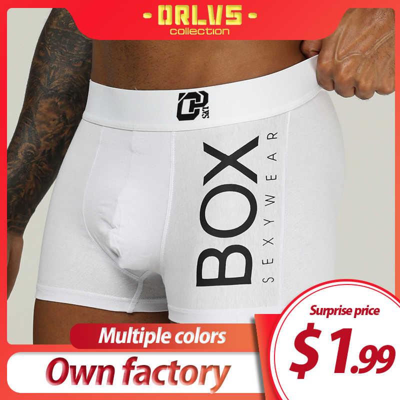 Orlvs Merek Pria Boxercotton Pria Pakaian Cueca Tanga Bernapas Nyaman Celana Dalam Boxer Celana Pendek U Kantong Pria Celana Dalam