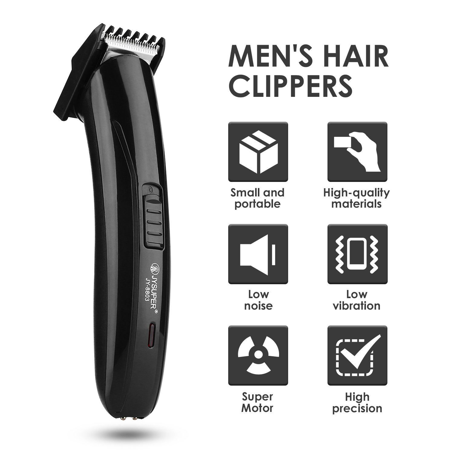 Electric Hair Clipper Cutting Machine Beard Barber Cutter Men Style Tool Portable Travel Rechargeable Cordless Mini Hair Trimmer