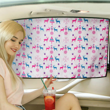 Adjustable Protector Solar Coche Car Window Curtain Universal Car Windshield Sunshade Side window sunshade curtain Summer