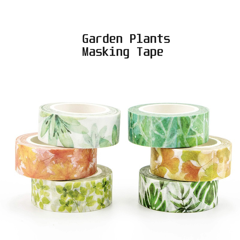 Garden Flower Paper Washi Tape Green Succulent Plant Sakura Adhesive Masking Tapes Diary Album Decoration DIY Sticker F342