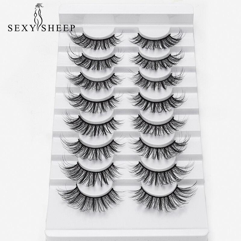 8 Pairs Natural False Eyelashes Fake Lashes Long Makeup 3d Mink Lashes Eyelash Extension Faux Mink Eyelashes For Beauty