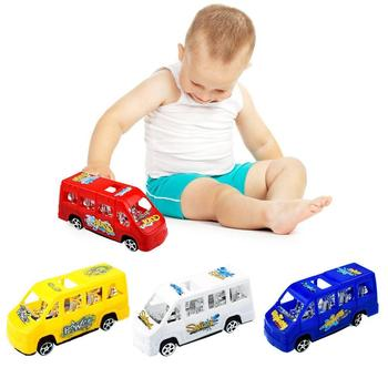 Baby Bus Toy Multicolor Seat Slide Back School Model Toys for Child Gifts image