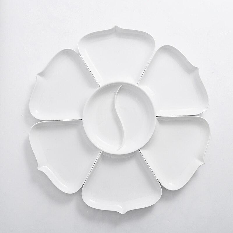 Ensembles de plats et d'assiettes en porcelaine | Vaisselle de cuisine, bol à dîner céramique porcelaine chinoise - 4