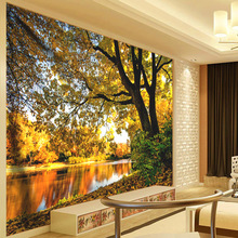 Autumn Forest Stream Landscape Tapestry 3D Mandala Wall Hanging Hippie Wall Tapestry Tapiz Wall Decor Tapestries Wall Carpets 3d print forest and mountain landscape tapestry wall hanging tapestries for home decor misty forest wall cover tapestry