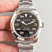 2019 Top Luxury Air King Stainless Steel Sapphire Glass Mirror Automatic Mechanical Men Men's 40MM Watch Watches Wristwatches