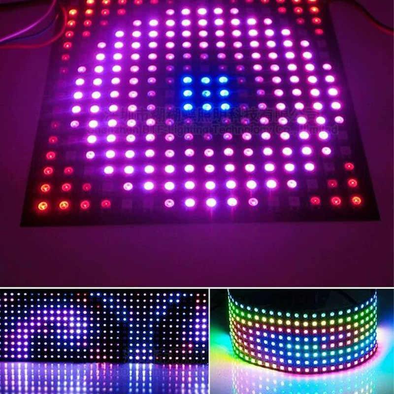DC5V, 8x8,16x16,8x32 WS2812B, panel de 256 píxeles direccionable individual, pantalla Flexible led, matriz de luz