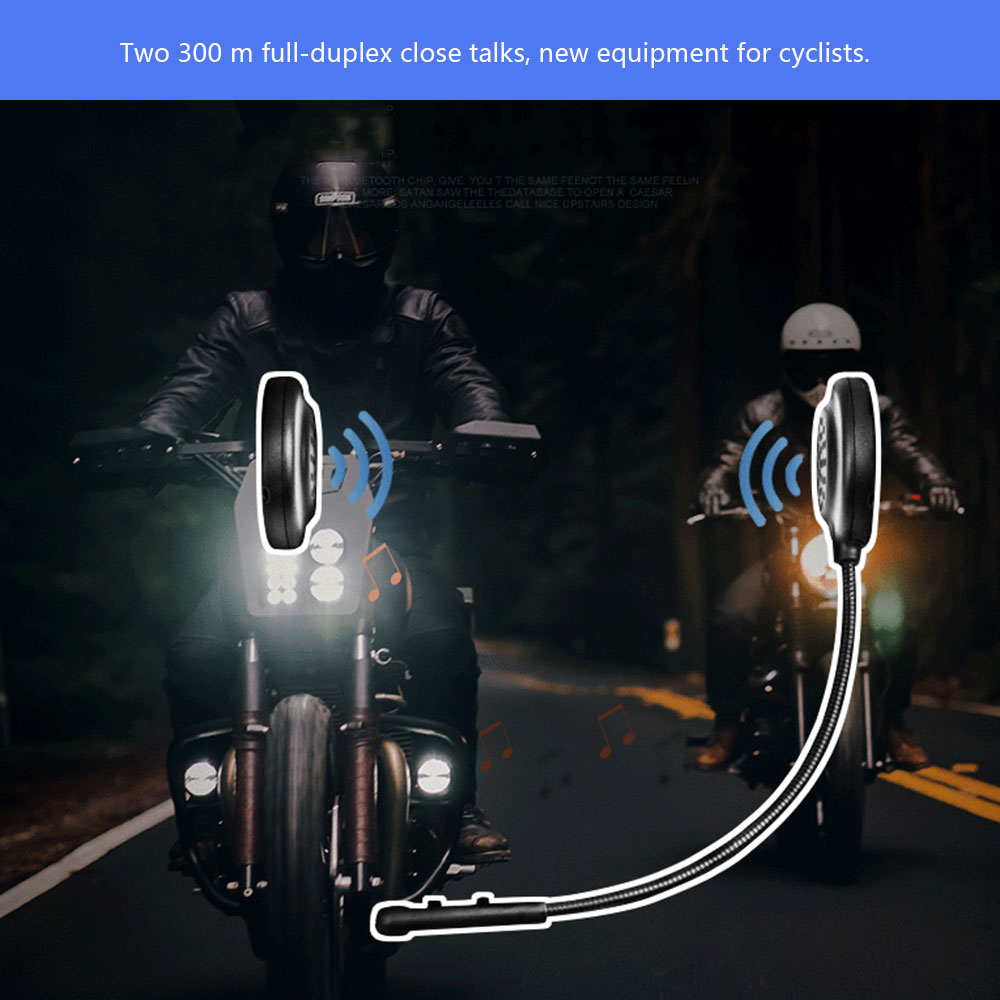 E200 Bluetooth Interphone Lightweight Wireless Communication Walkie-talkie Headsets Handsfree Motorcycle Helmet Intercom