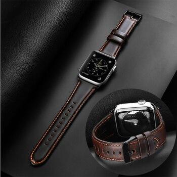 Strap für Apple uhr band 42mm 38mm correa iwatch serie 5 4 3 2 Hohe qualität lederband 44mm 40mm Apple uhr 4 Zubehör