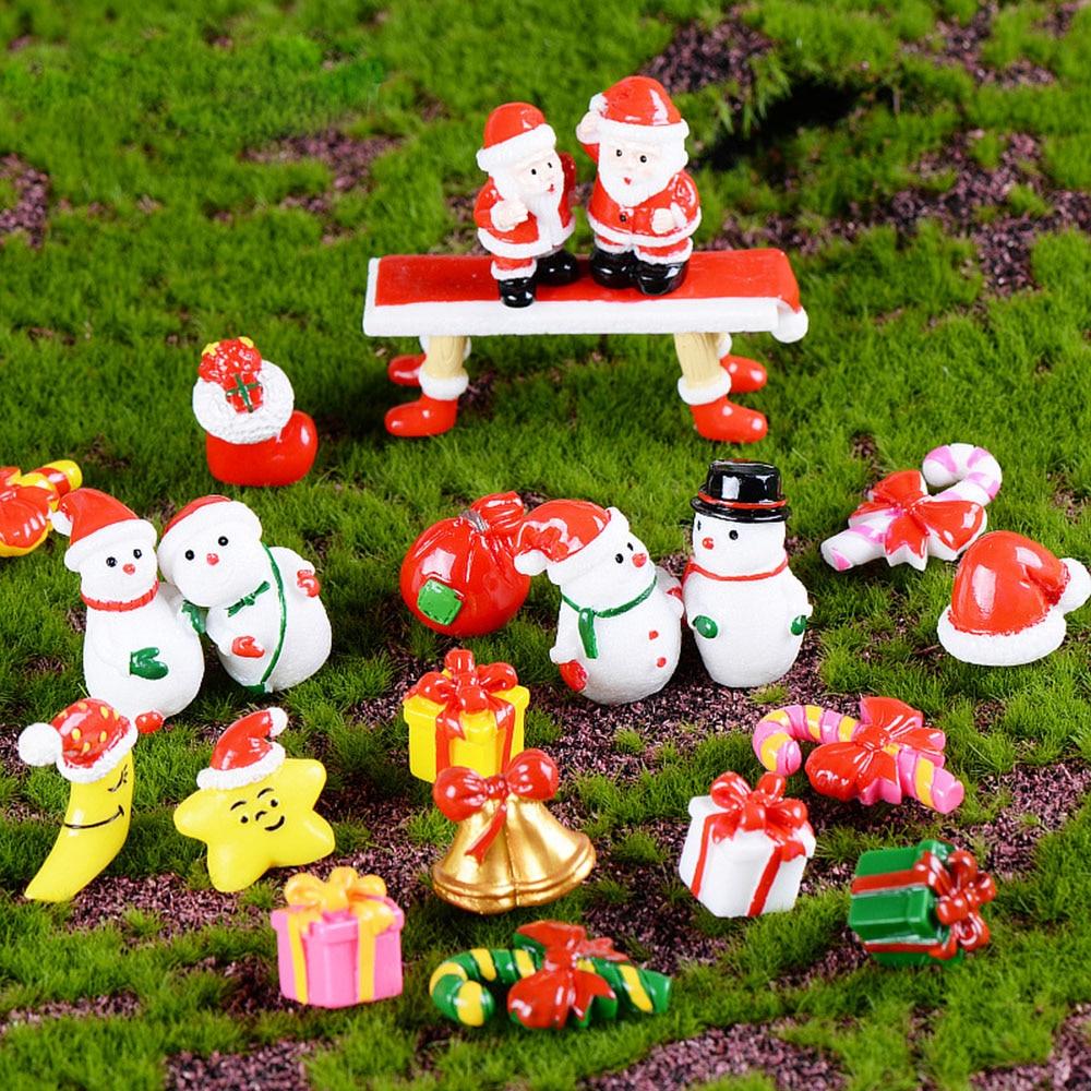 Resin Miniature Tools Christmas-Decoration-Accessories Xmas-Figurines Micro-Landscape-Decor