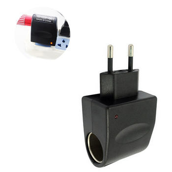 110V-240V AC to 12V DC Car Cigarette Lighter Socket EU Plug Charger Adapter Converter Wall Car-Styling Universal dc 12v universal male car cigarette lighter socket plug connector adaptor