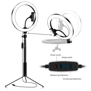 Image 2 - Photography 5.7/8/10.2 Inch LED Selfie Ring Light Dimmable LED Ring Lamp Video Camera Phone Ringlight For Live YouTube Tik tok