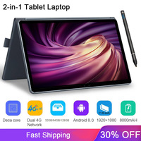 2020 Full New 11.6 inch 2 in 1 Tablet GPS Android MT6797 10 cores gaming pc Tablets Phone call laptop Tablet with Keyboard
