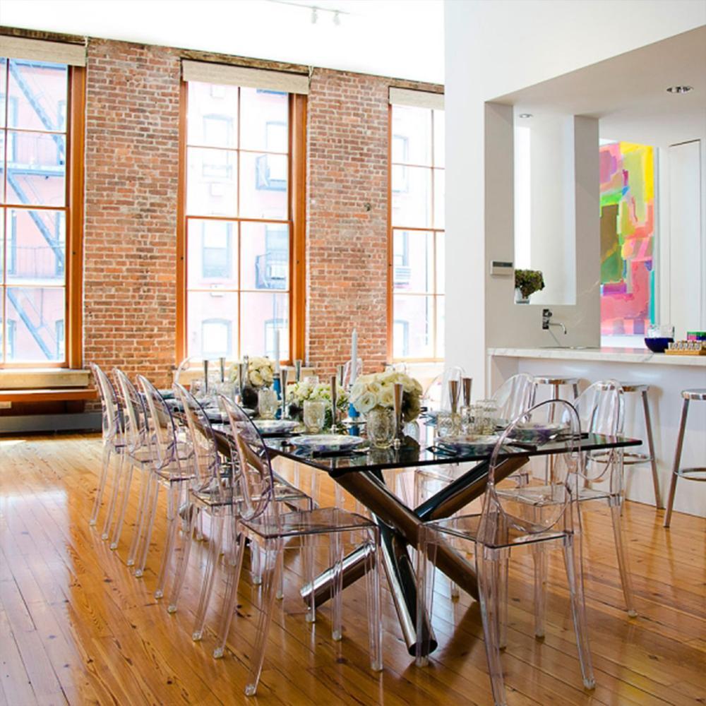 Furgle moderne acrylique salle à manger chaise Flash meubles fantôme chaise latérale en cristal Transparent pour cuisine et salle à manger chaise