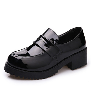 Image 5 - Japanese Student Shoes College Girl Shoes JK Commuter Uniform Shoes PU Leather Cospaly Shoes