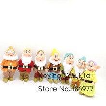 Collezione limitata 7 pz/lotto Biancaneve e i Sette Nani Grumpy Dopey Felice Sneezy Sleepy Schivo Doc Action Figure Bambola giocattolo