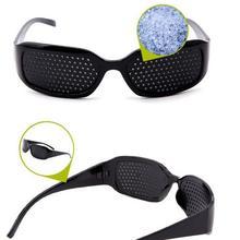 Eyewear Excercising Pinhole-Glasses Eye-Care Healing-Vision Training Black Eyesight Improvement