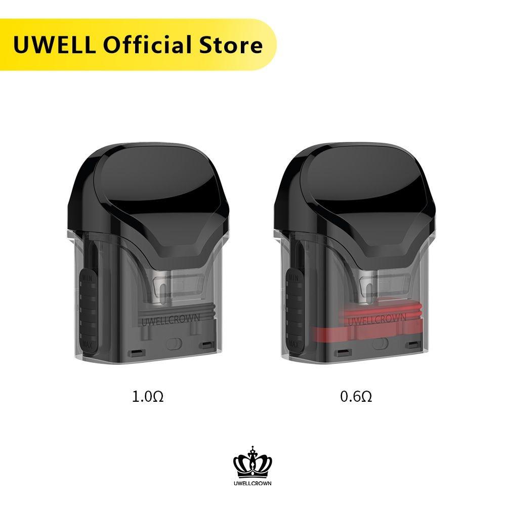 5 Packs UWELL Crown Refillable Pod  3ml Capacity Suitable For Crown Pod System Vape Pod E-cigarette Vaporizer