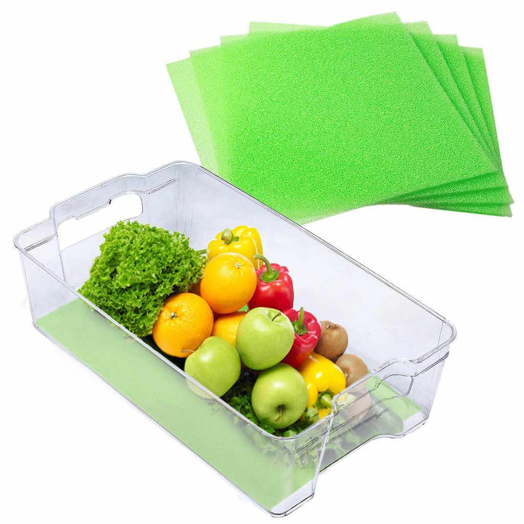 4pc Obst & Gemüse Leben Extender Liner Für Kühlschrank Schubladen 3mm Küche tisch matte Kühlschrank matte Verhindern verschlechterung neue