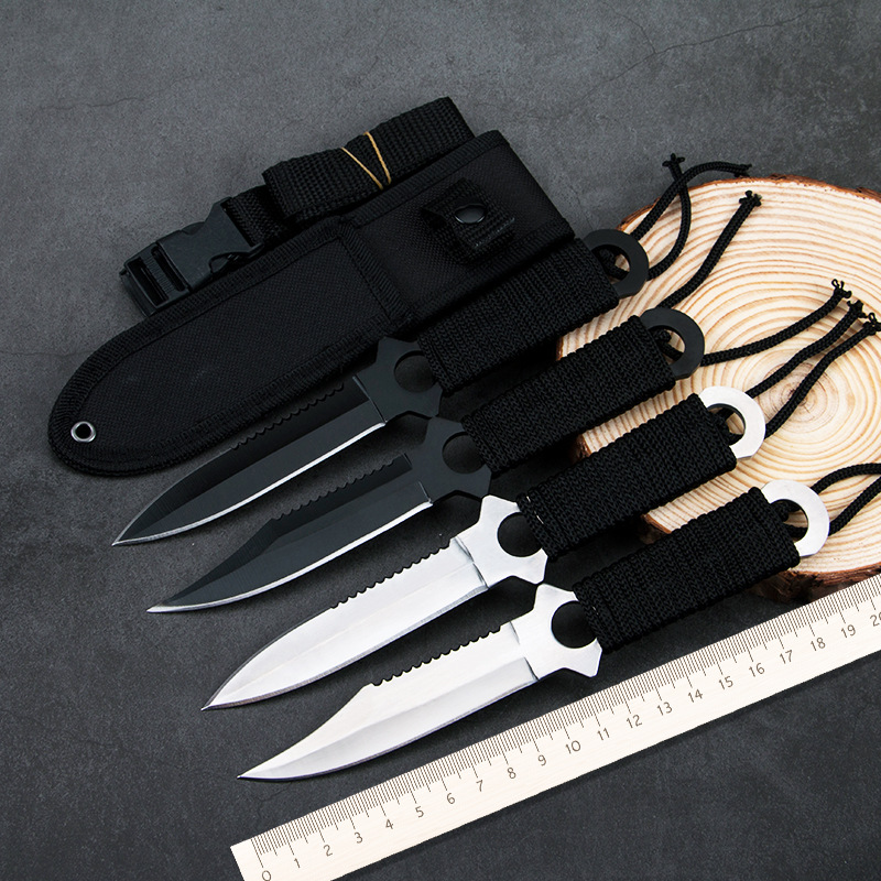 Fixed Blade Knife Hunting Stainless Steel Knives Outdoor Camping Hand Tool Sheath Diving Survival Knife