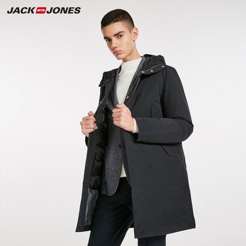 JackJones Men's Winter Hooded Long Down Jacket Overcoat Menswear 218312502-in Down Jackets from Men's Clothing    1
