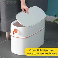 JOYBOS Waterproof Garbage Bucket Trash Can With Lid Portable Automatic Packing Bin Living Room Toilet Bathroom Kitchen Seal JBS1 cheap CN(Origin) Rectangular Open Top Eco-Friendly Paper Basket JBS-LJT-YLT-Y1-WT Pressing Type