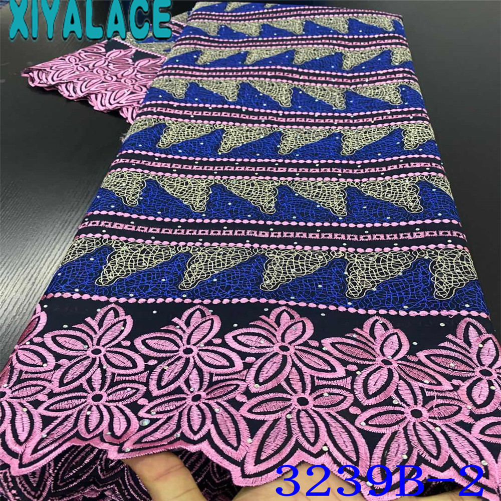 African Fabric Lace 2020 Swiss Voile Lace In Switzerland High Quality Cotton Laces Nigerian Embroidery With Stones KS3239B