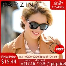 PARZIN polarize Vintage güneş gözlüğü kadın moda lüks marka sürüş güneş gözlüğü erkekler Retro kare UV400 gözlük Gafas De Sol