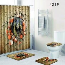 Креативная занавеска для душа в ванную комнату с красивым изображением