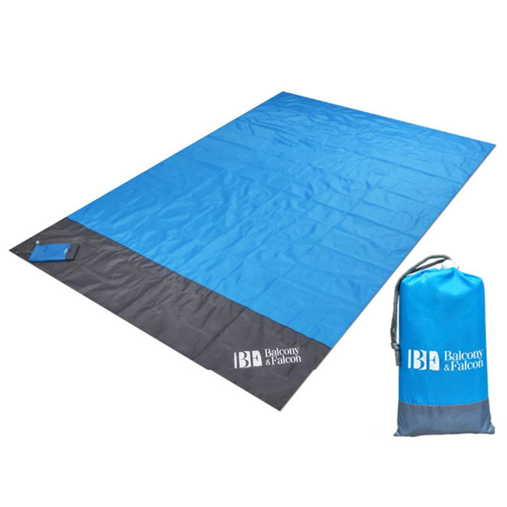 Sand Free Beach Mat 140x210cm Picnic Blanket Waterproof Camping Outdoor Picknick Tent Folding Cover Bedding Pocket