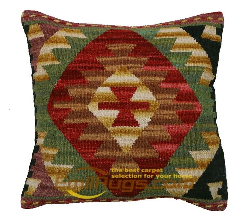 Di lusso del cuscino copre Kilim Lana Fatti A Mano A Mano Tessuto di Lana Fantasia Divano Coperte e Plaid Decorazione di Interni