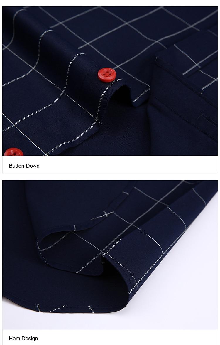 Hb87f50d4466b4bbd89791b97ae64c500q Handsome Fashion Men Shirts Casual Long Sleeved Plaid Shirt Regular Fit Male Blouse 4XL 5XL