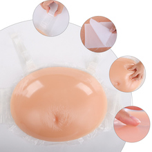 Artificial Stomach 100% Silicone Gel Belly False Pregnant Tummy Artificial Belly for Crossdresser Actor Woman Jelly Tummy