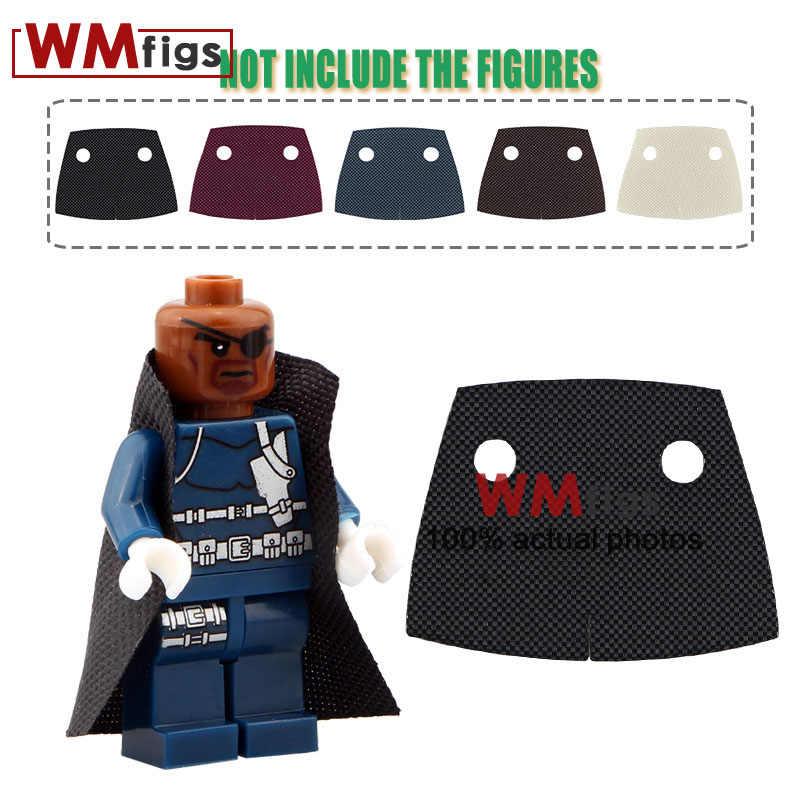 5 ชิ้น/ล็อต Cape เสื้อคลุม manteau Batman เครื่องแต่งกาย Yoda Over Coat Super Heroes เสื้อโค้ทเสื้อคลุมหมวกสำหรับอิฐบล็อกของขวัญของเล่น