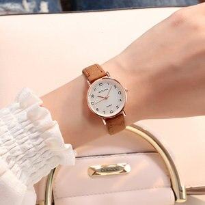 Image 2 - Simple Watch Women Watch Leather Fashion Casual Quartz Wrist Watch Ladies Watch Female Clock relogio feminino reloj mujer