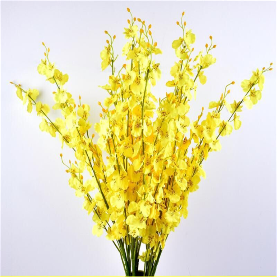 Cheap Free Shipping Butterfly Orchid Fall Decorations for Home Fake Plants Flower Artificial Pressed Wedding Phalaenopsis