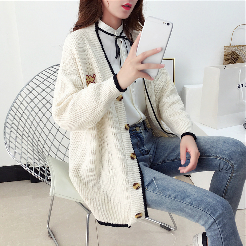 Women Knitting Cardigan Sweater Coat Female Casual Bat Sleeve Loose Sweater Women Knitted Jacket Outwear 2019 Autumn Winter