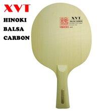 最軽量 XVT バルサカーボン卓球パドル/卓球ブレードヒノキの木 + Basla 木製送料無料