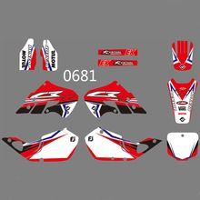 купить For Honda CR125 CR 125 1998 1999 CR250 CR 250 1997 1998 1999 Full Graphics Decals Stickers Custom Number Name Glossy Stickers по цене 3895.3 рублей