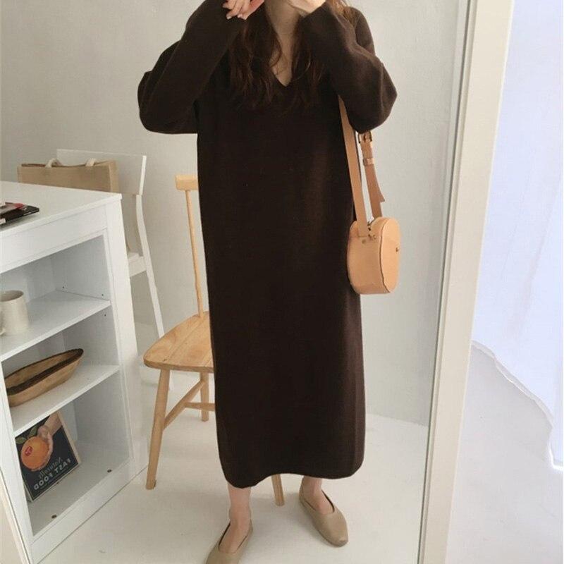 Купить цельнокроеное платье оверсайз женское осенне зимнее трикотажное